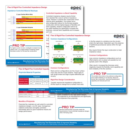 Flex & Rigid-Flex Controlled Impedance Design Tip Sheets