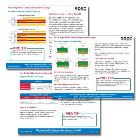 Flex & Rigid-Flex Controlled Impedance Design Tip Sheets